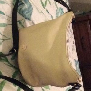 Kate Spade leather off white and black purse